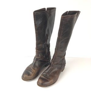 UGG Channing II Brown Leather Riding Boots Sz 7.5